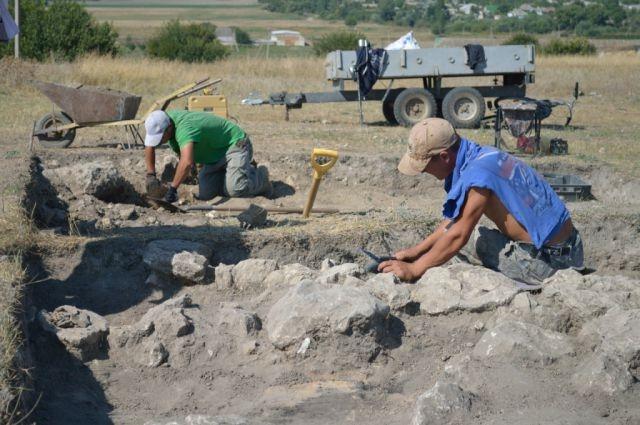 Раскопки захоронений периода бронзового века в Ставрополье