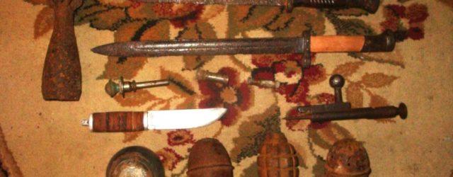Оружие времен ВОВ, изъятое в Волгограде