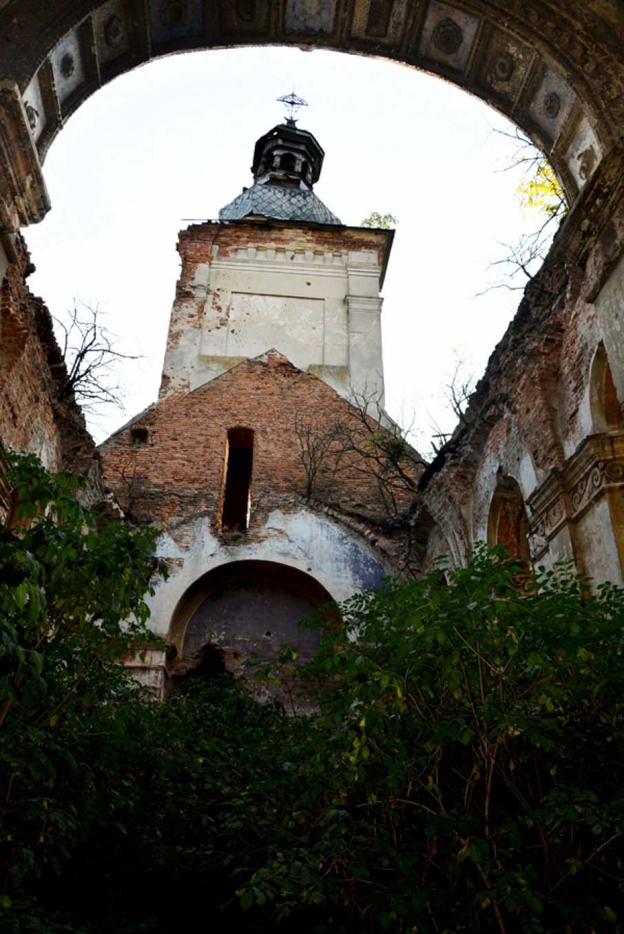 На Львовщине «черные археологи» раскопали захоронения монахов и разбросали кости в руинах костела