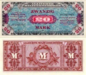 денежные знаки, выпускавшиеся оккупационными властями в период оккупации Германии и обращавшиеся параллельно с рейхсмаркой и рентной маркой в 1944—1948 годах.