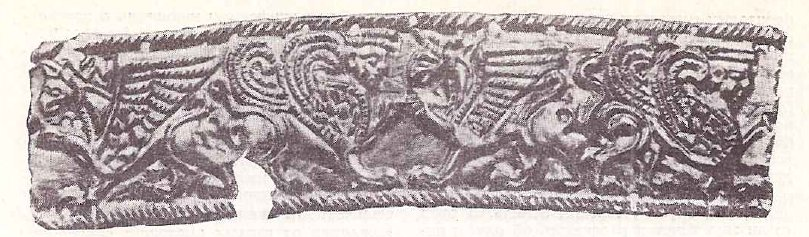 Золотая пластинка с изображением сфинкса