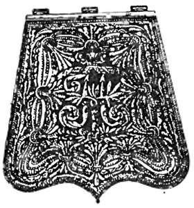 Офицерская ташка лейб-гвардии Гусарского полка, 1826—1855.