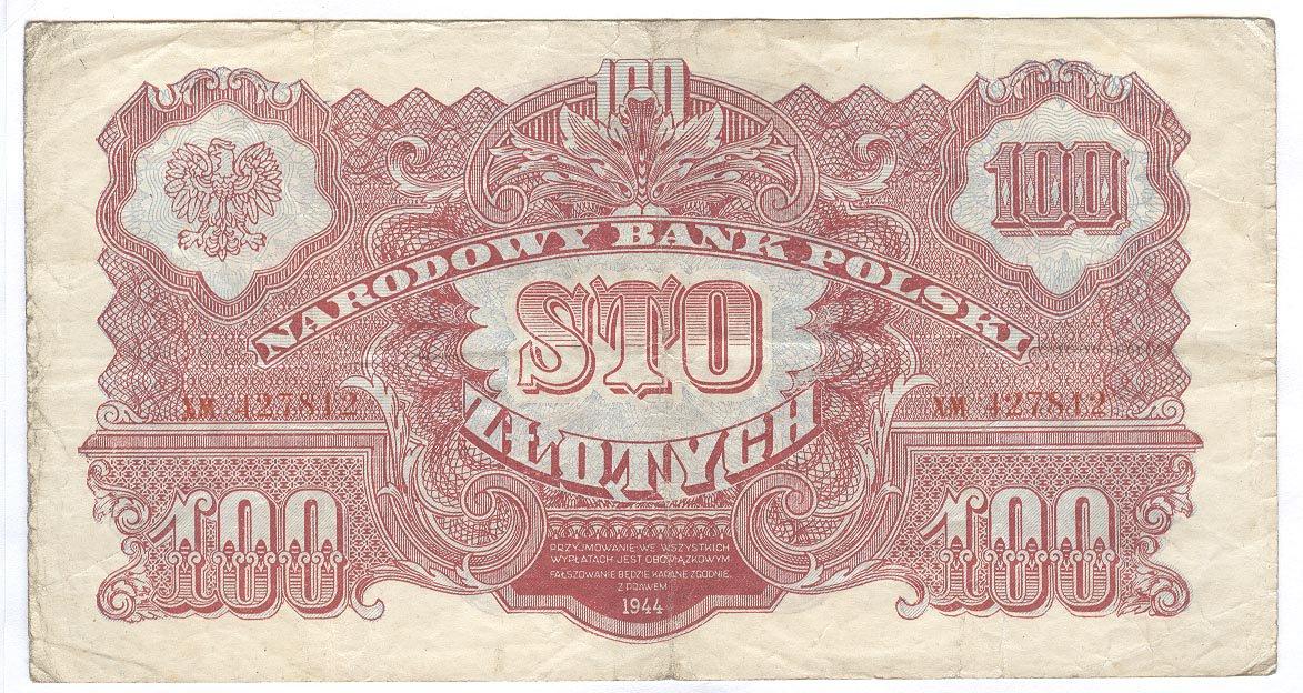 осле освобождения Польши в 1944 году и восстановления её независимости вначале были выпущены бумажные деньги номиналами в 1, 2, 5, 10, 20, 50, 100 и 500 злотых, а также в 1000 злотых выпуска 1945 года.