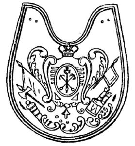 Офицерский Знак, утвержденный в царствование императрицы Анны Иоанновны.