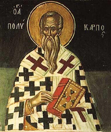 Святитель Поликарп Смирнский, епископ, сщмч.