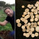 Кладоискатель нашел золота на 100000 фунтов стерлингов при поиске обручального кольца друга