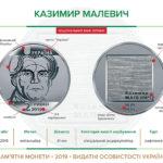 НБУ вводит в обращение памятные монеты «Казимир Малевич» и «100 лет со времени образования Национальной заслуженной академической капеллы Украины «Думка»